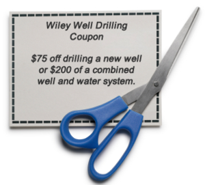 DIscount Coupon  $75 off Drilling a Well or $200 off a combined well & pump